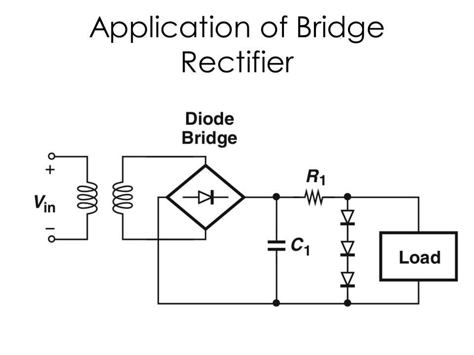 bridge rectifier circuit with capacitor