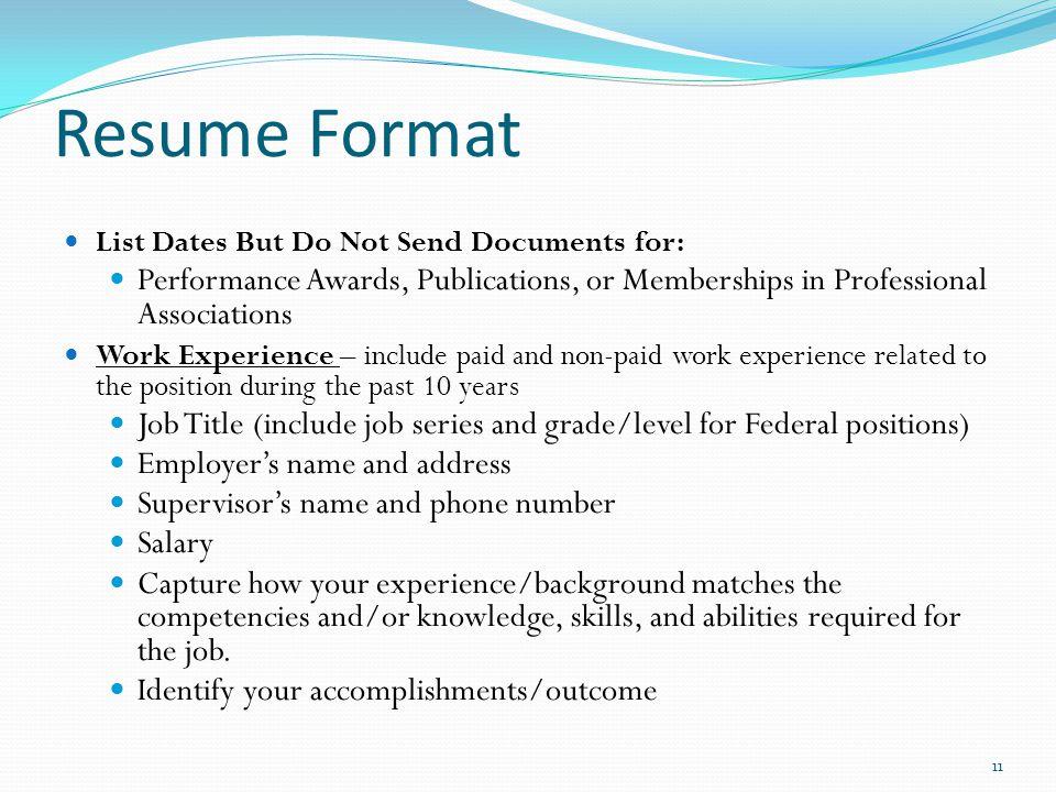 good resume title job
