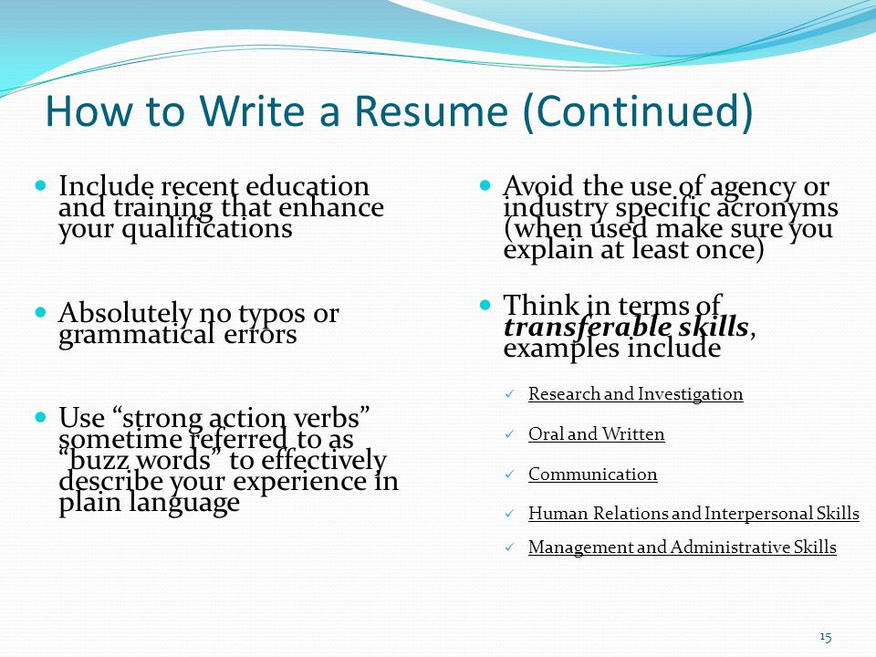 resume words to avoid