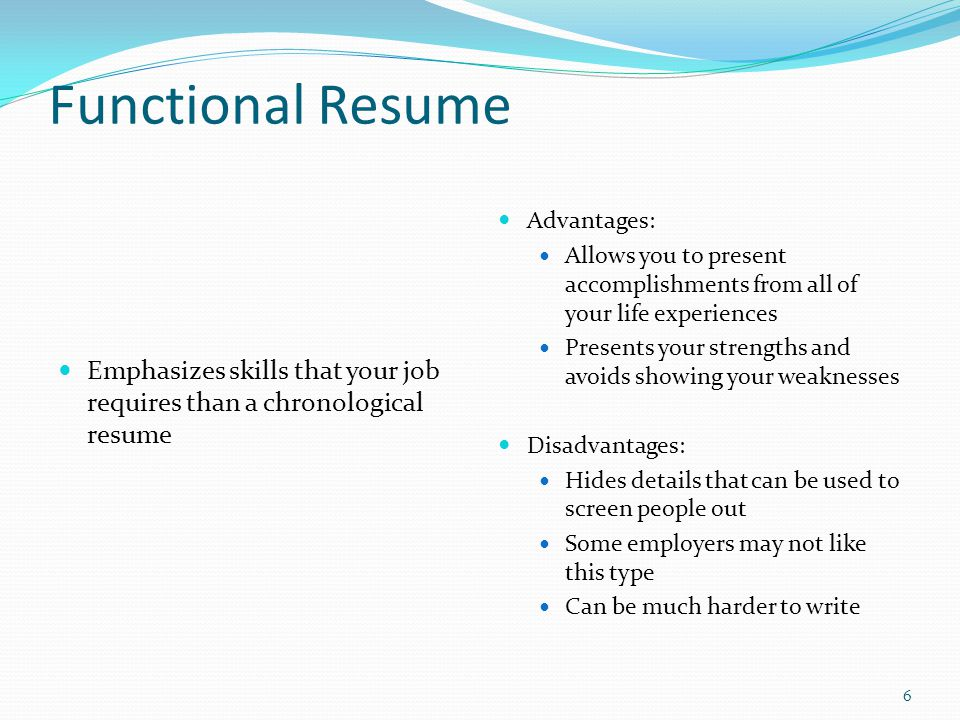 define chronological resume
