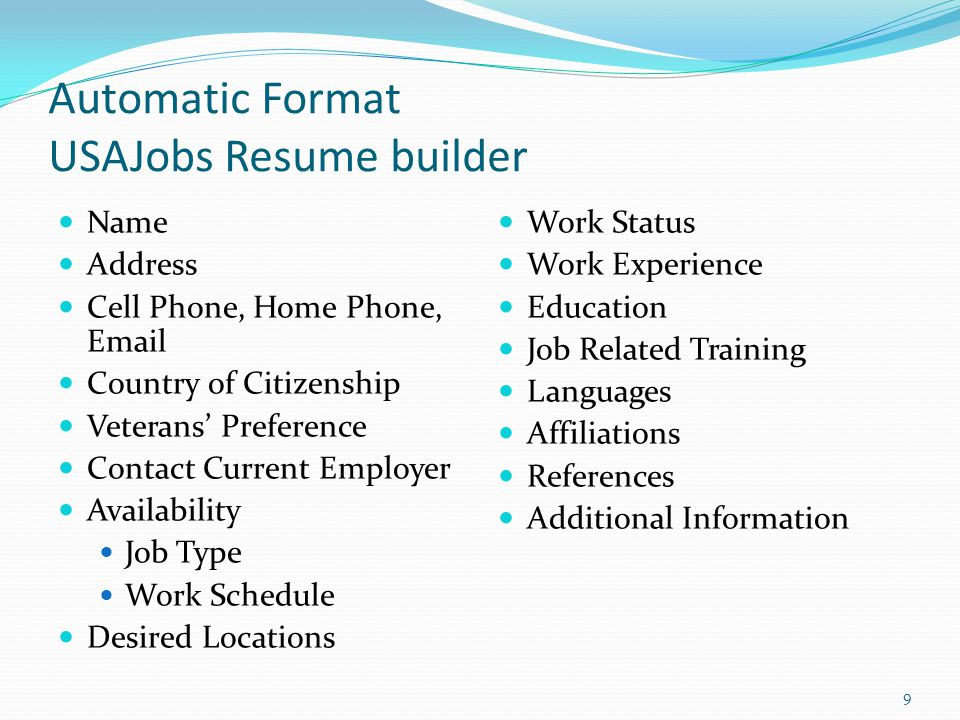 Usajobs Resume Builder Example - Examples of Resumes - ucr resume builder