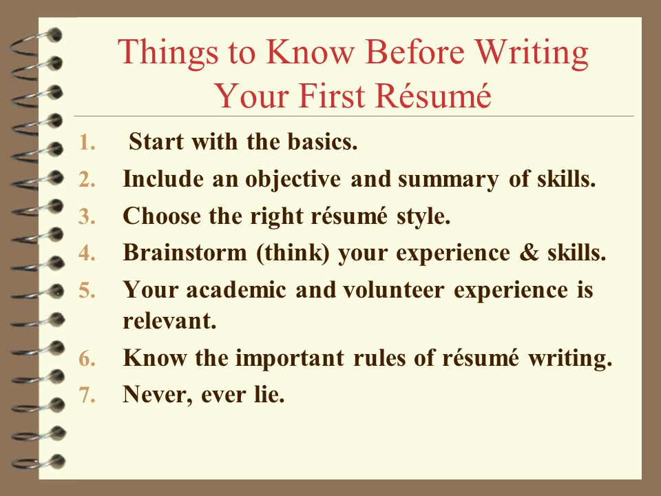writing a first resumes - Onwebioinnovate - how to write first resume