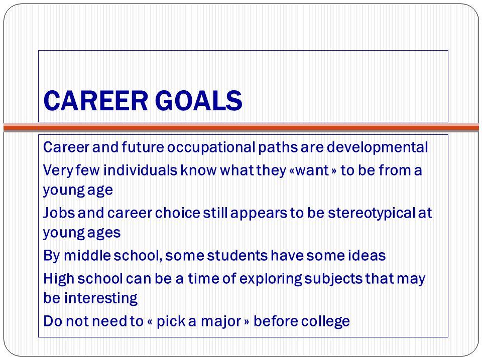 career goals for high school students - Josemulinohouse