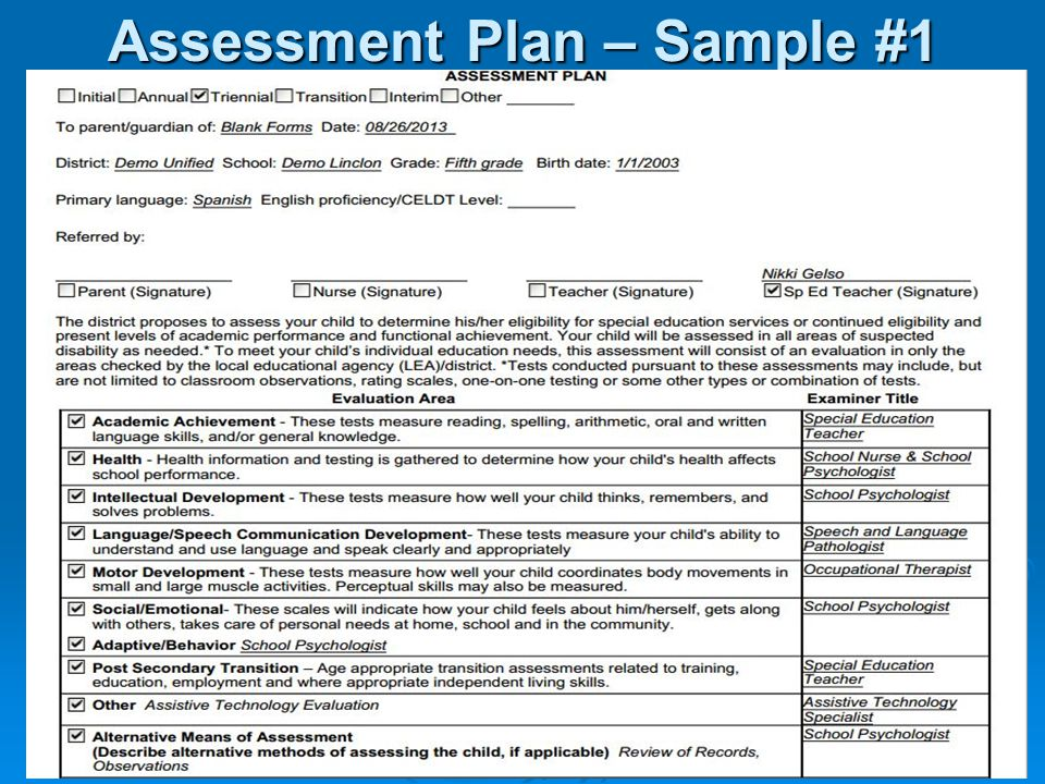 Sample Assessment Plan kicksneakers - sample assessment plan