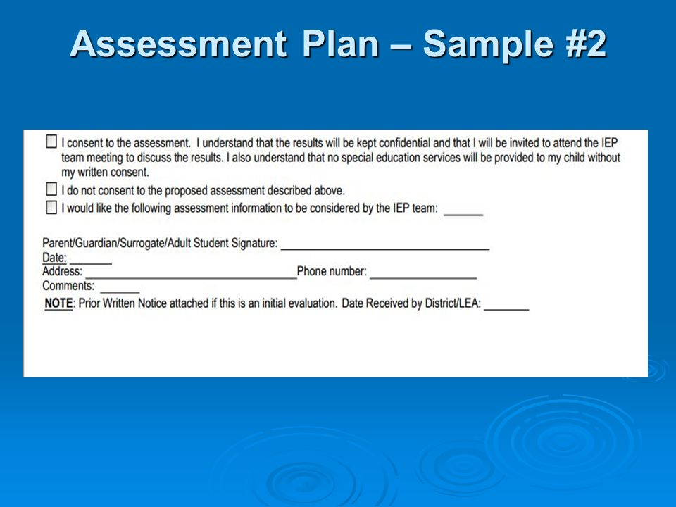 SEIS u2013 IEP Changes \ Compliance - ppt video online download - sample assessment plan