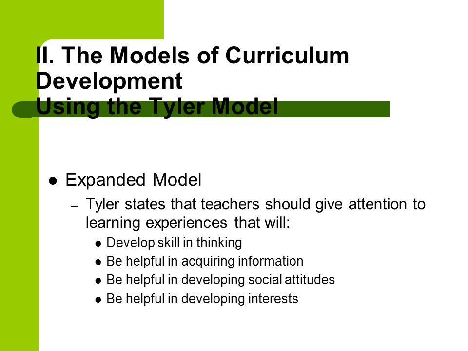 Curriculum Development The Tyler Model educational 4604301
