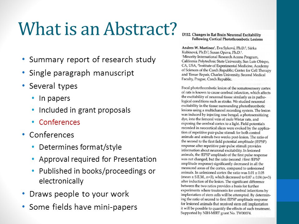research abstract format - Onwebioinnovate