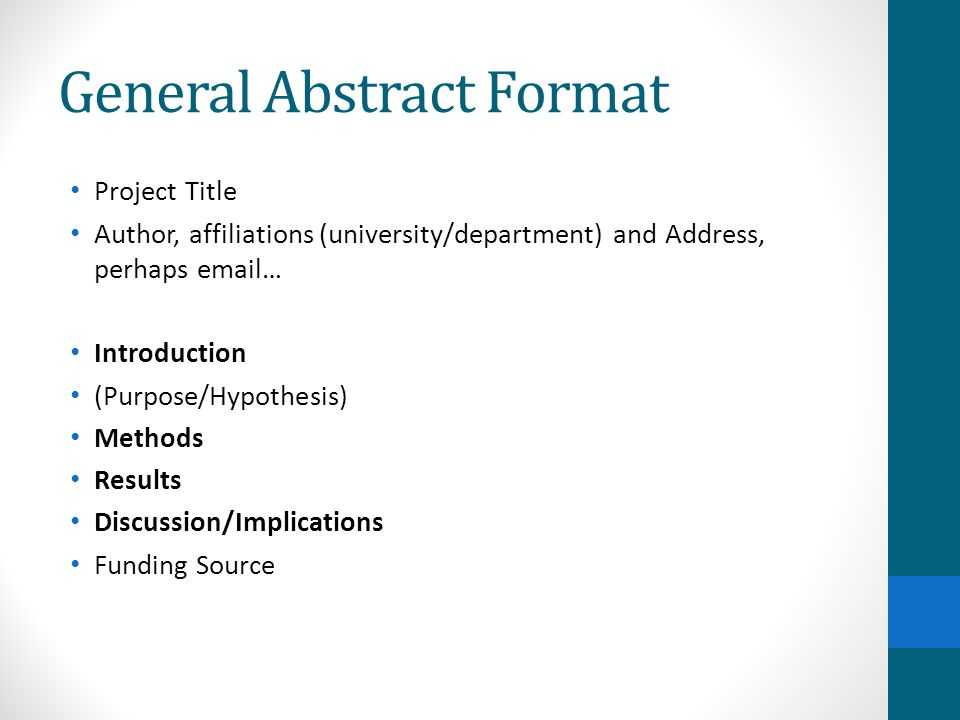 ... Scientific Abstracts Dr Gail P Taylor   Ppt Video Online Download   Abstract  Format ...