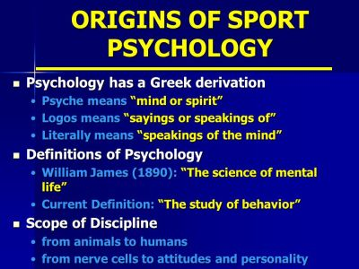 INTRODUCTION TO SPORT PSYCHOLOGY - ppt video online download