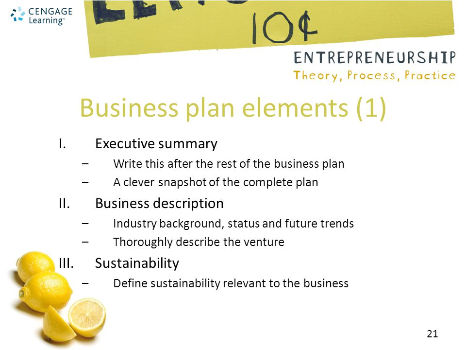 Developing a sustainable business plan - ppt video online download - business plan elements