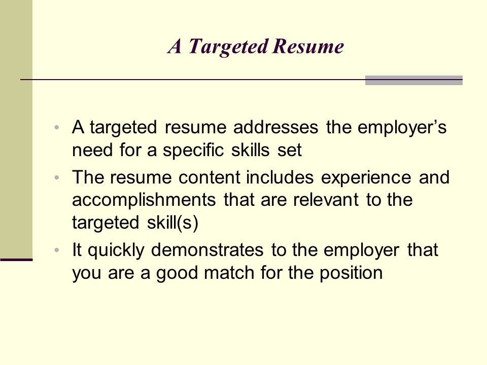 targeted resume definition managerbillybullock