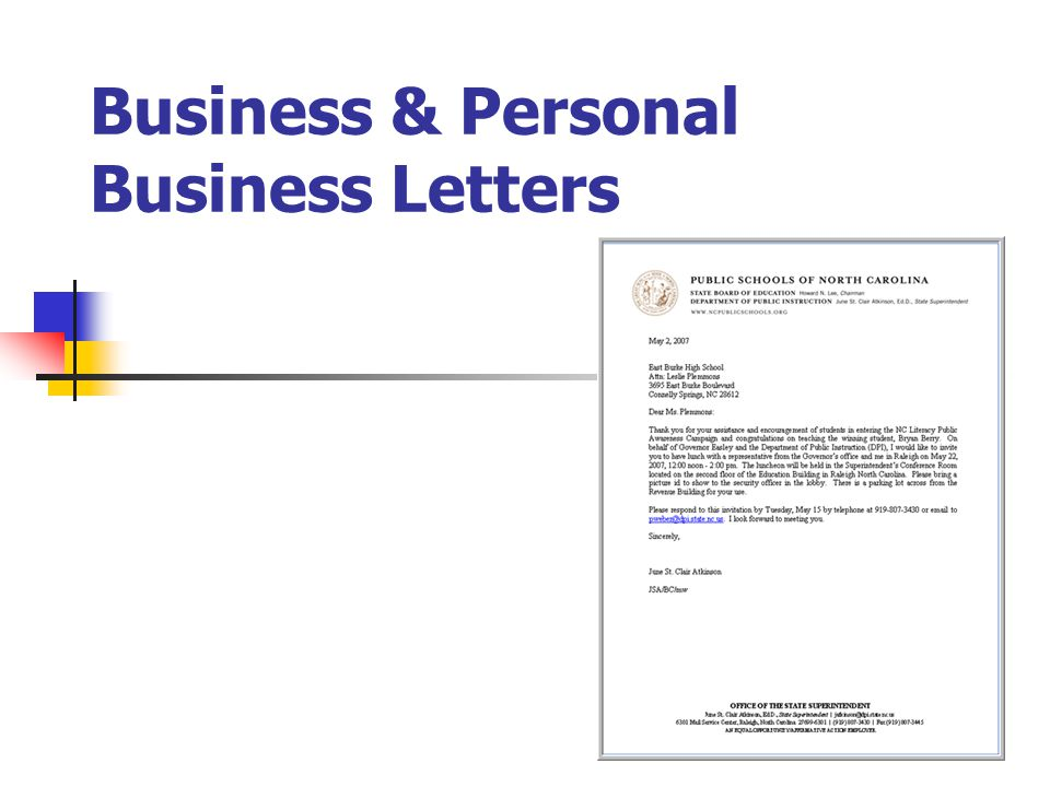 Business  Personal Business Letters - ppt video online download