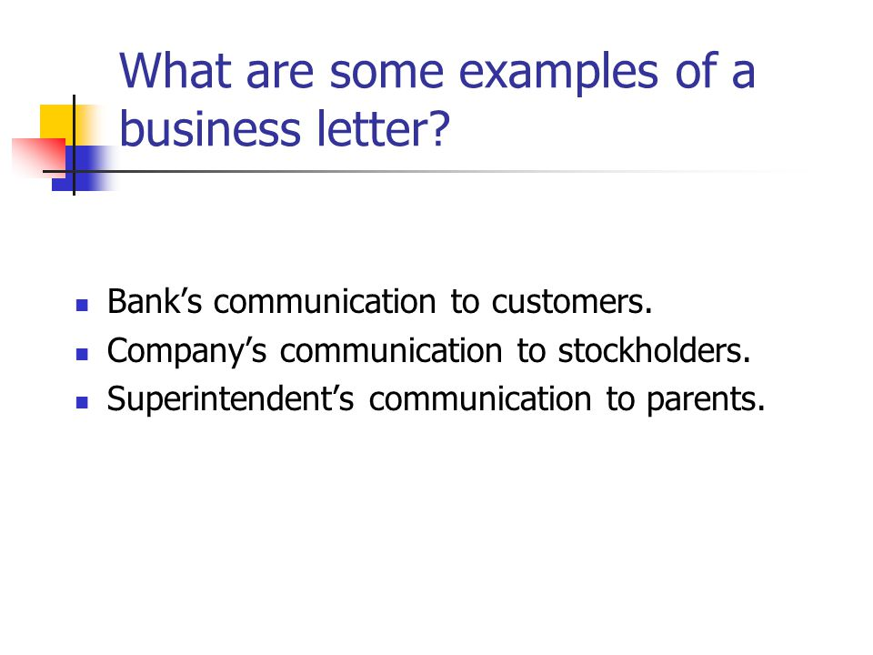 Business  Personal Business Letters - ppt video online download - Personal Business Letter Example