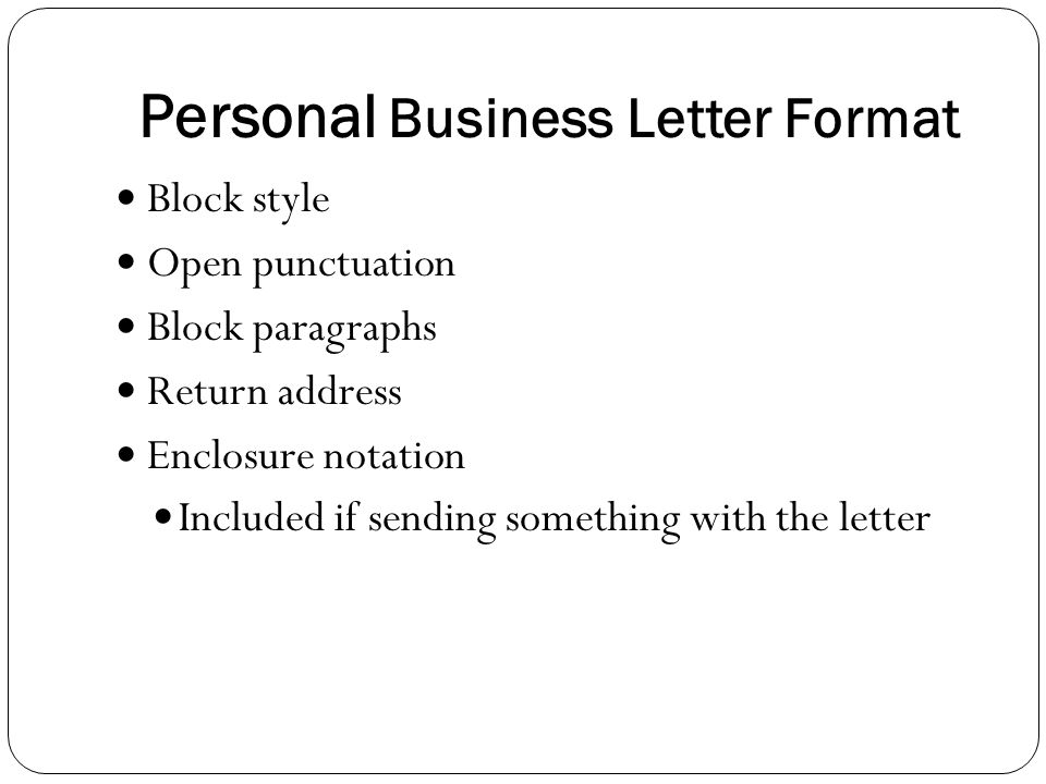 personal business letter format - Intoanysearch