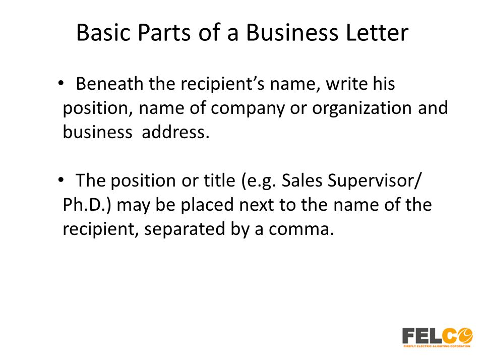 Essential parts of a business letter essay Term paper Academic - parts of a business letter