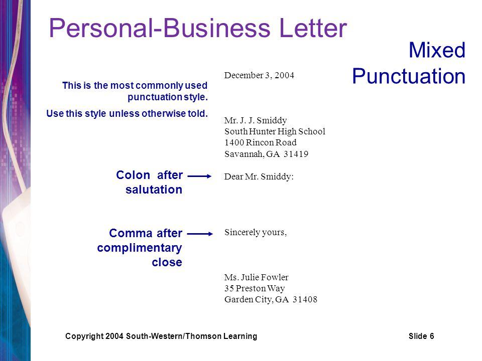 cover letter salutation comma or colon