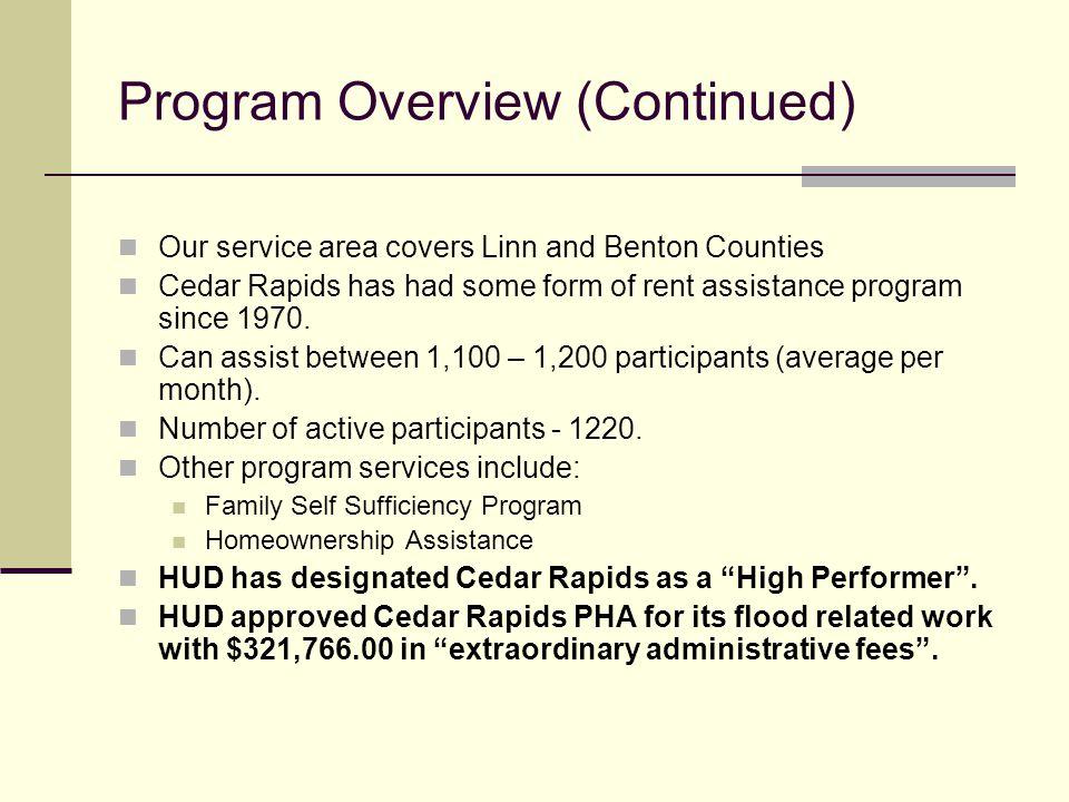 City of Cedar Rapids Section 8 Housing Choice Voucher Program - rental assistance form