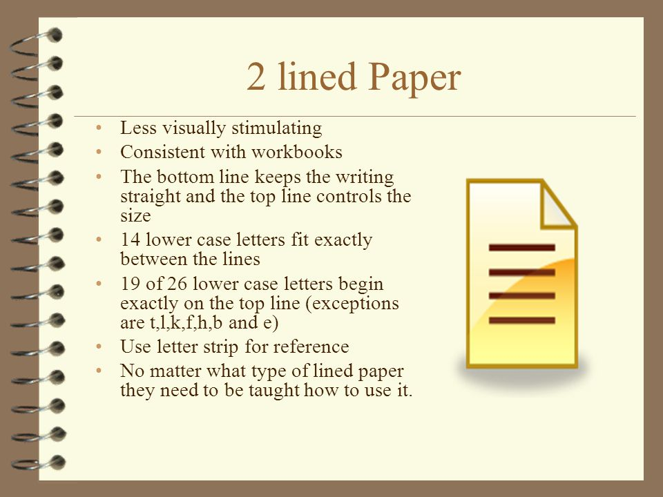 Type on lined paper