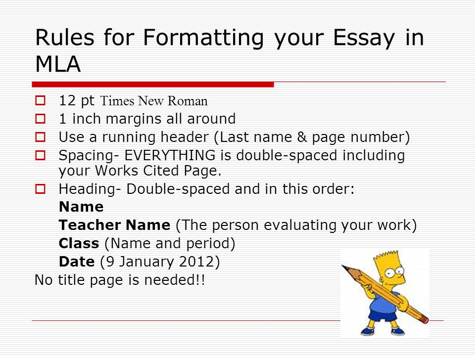 MLA Citations Format of Paper Parenthetical Citations Works Cited - formatting paper mla