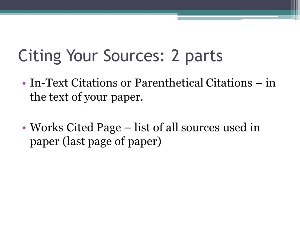citing sources in a paper