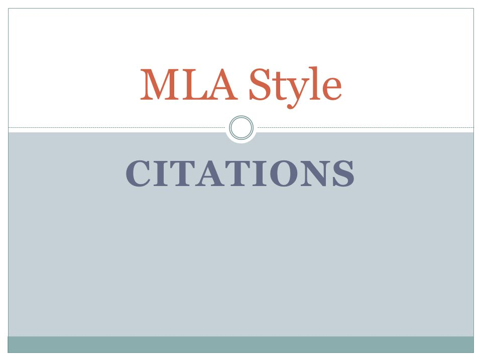 MLA Style Citations - ppt video online download