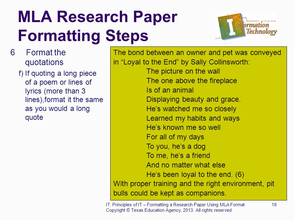 Quoting Passages Using MLA Style - A Research Guide for Students