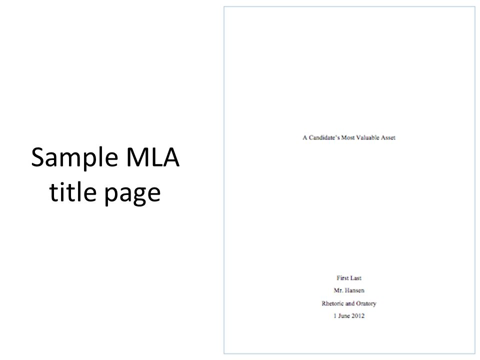 cover page essay mla - Apmayssconstruction