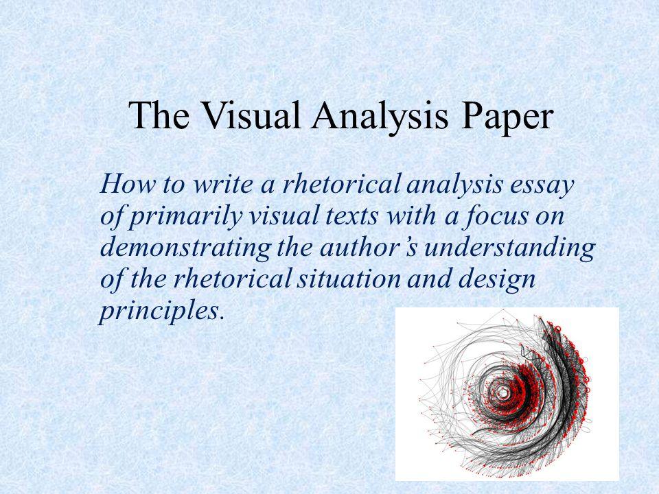 visual analysis essay example