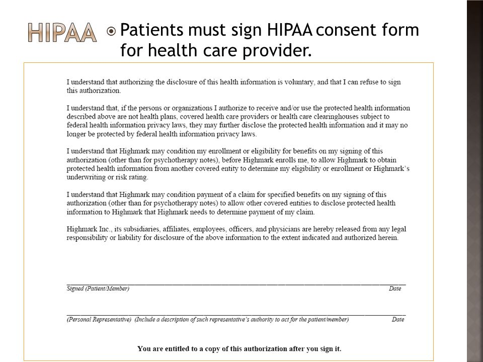 hipaa consent forms – Tattoo Consent Forms