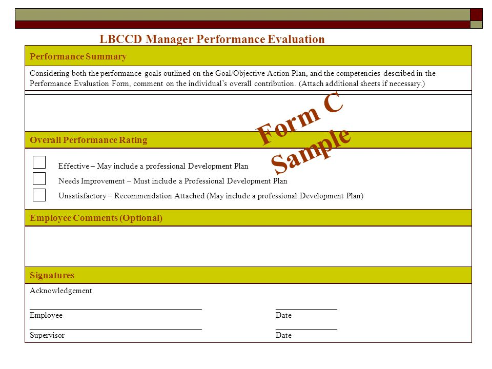 Manager Performance Evaluation - ppt video online download