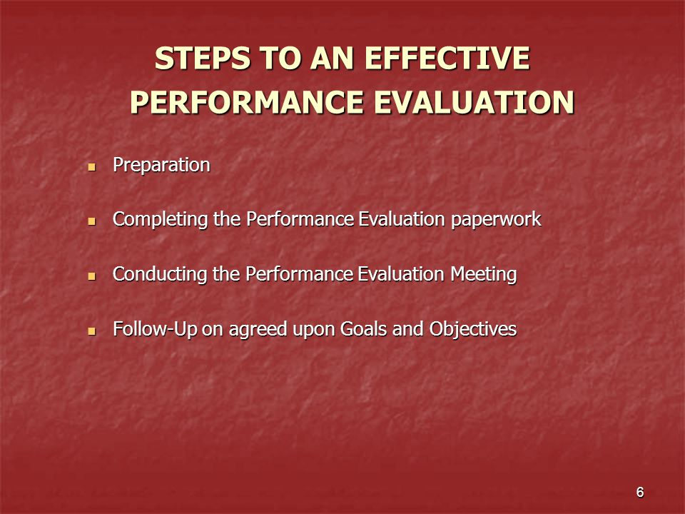 The University of Alabama Annual Employee Performance Evaluation - Effective Employee Evaluation Steps