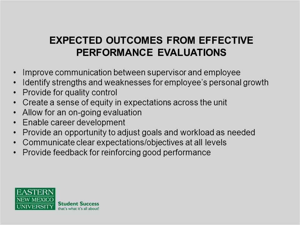 ENMU Employee Evaluation Training - ppt download - employee evaluations