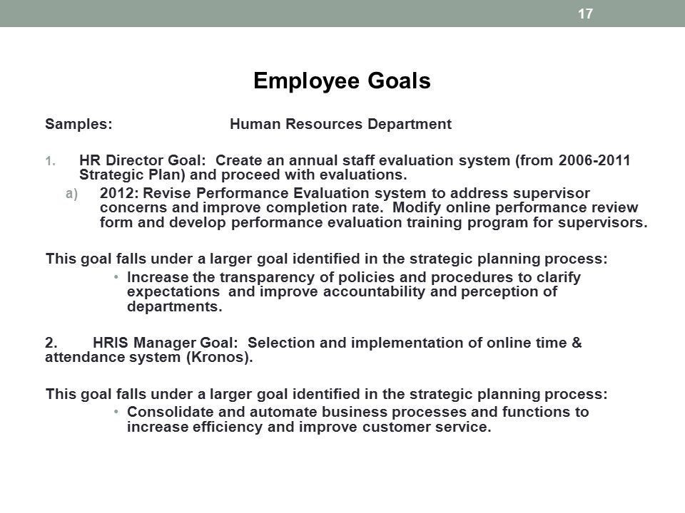 Goals Employee Performance Evaluation cvfreepro