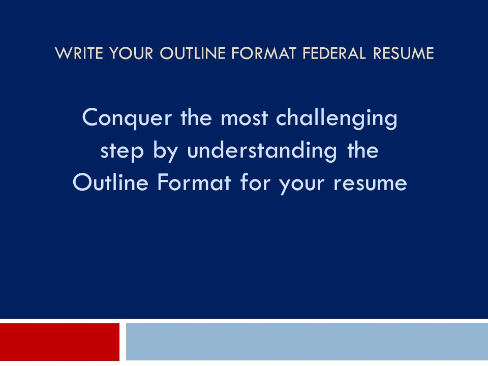 How To Write A Federal Resume | Stagedirector.co
