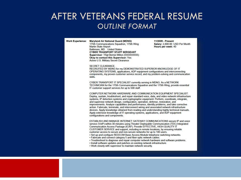 federal resume outline format - Tulumsmsender - Resume Outline Format