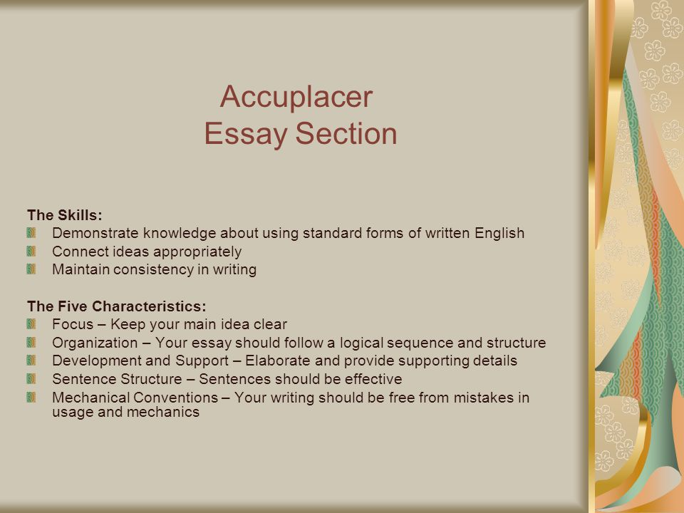 Accuplacer Writing Essay Examples Accuplacer Writing Essay
