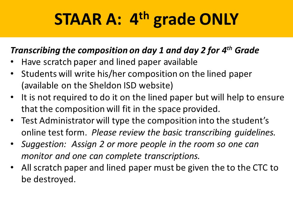 Writing Staar Composition Lined Paper Free Print - Worksheet