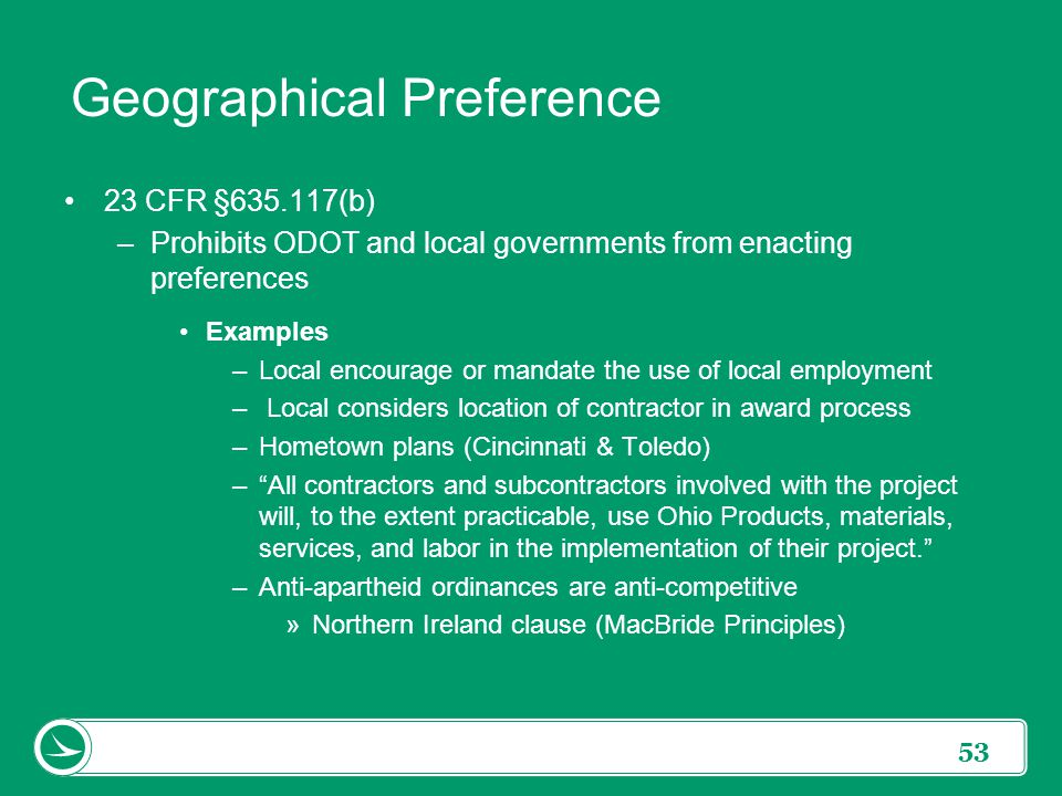 Geographic Preference cvfreepro - geographic preference