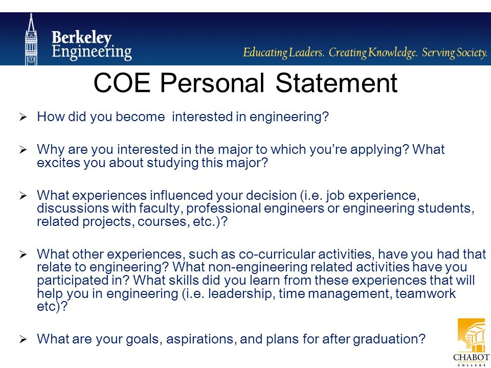 Professional Aspirations And Personal Statement