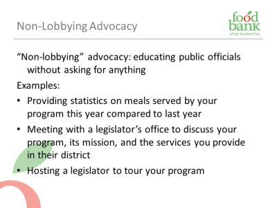 Advocacy 101: Agency Capacity-Building Training - ppt download