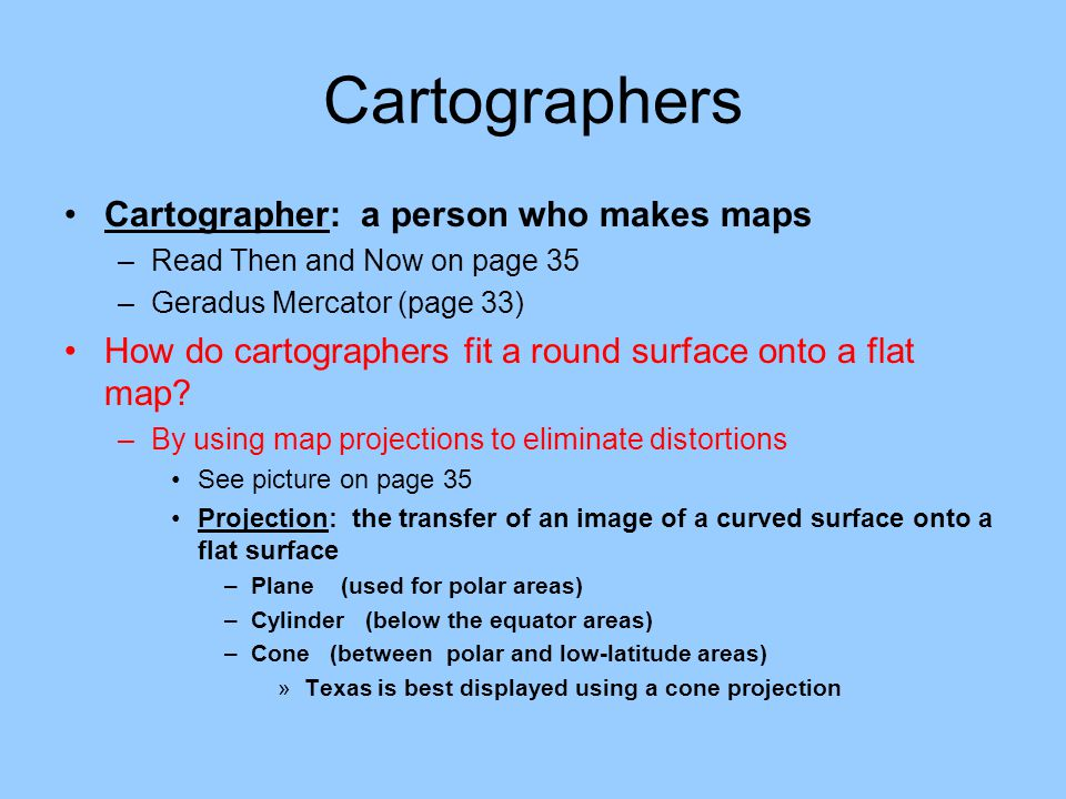 Types Of Map Projections masterlistforeignluxury
