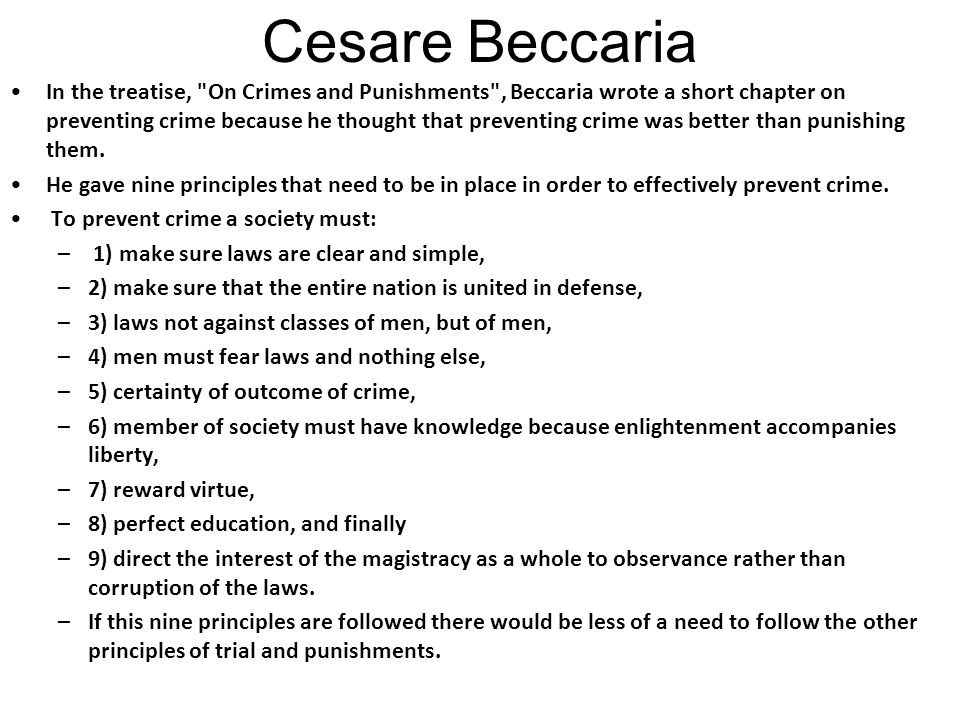 Cesare Beccaria Ppt Video Online Download