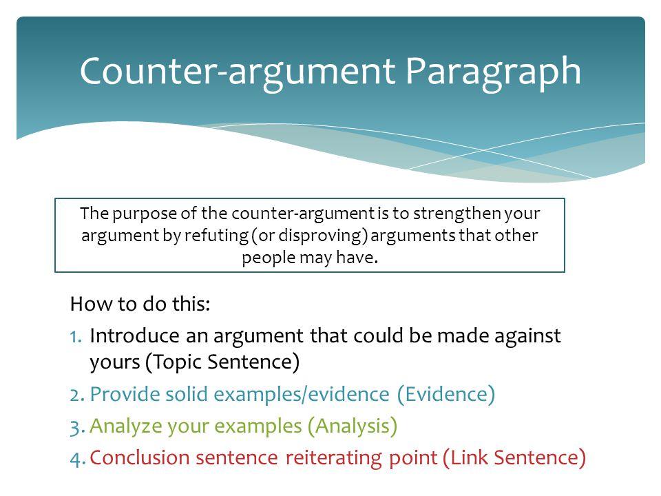 Counter Argument Example counter argument in an essay - hepatitze