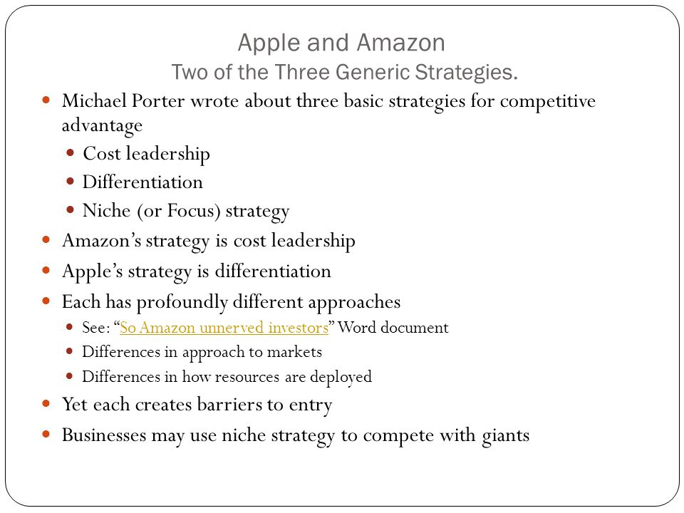 Cost leadership of apple Research paper Academic Writing Service - porter's three generic strategies