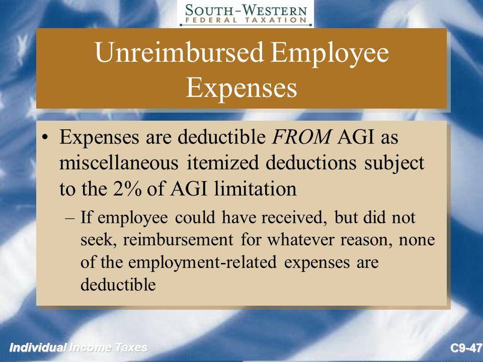 unreimbursed employee expense - Basilosaur