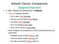 Adverb Clause Worksheet Photos
