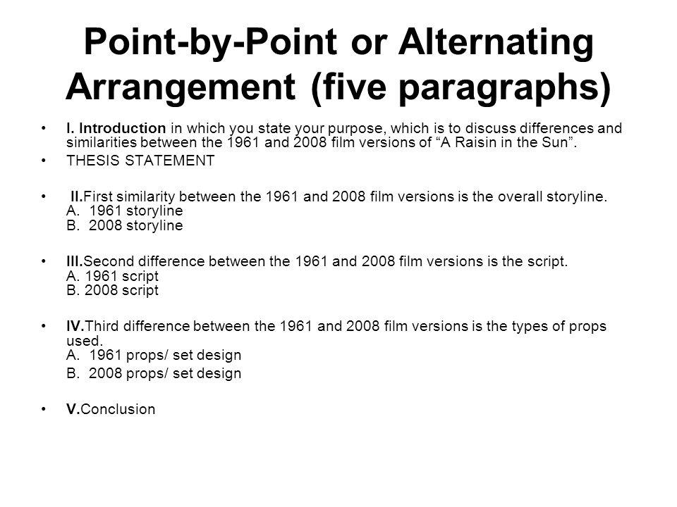 Compare 1961 raisin the the sun with the 2008 version Essay Academic