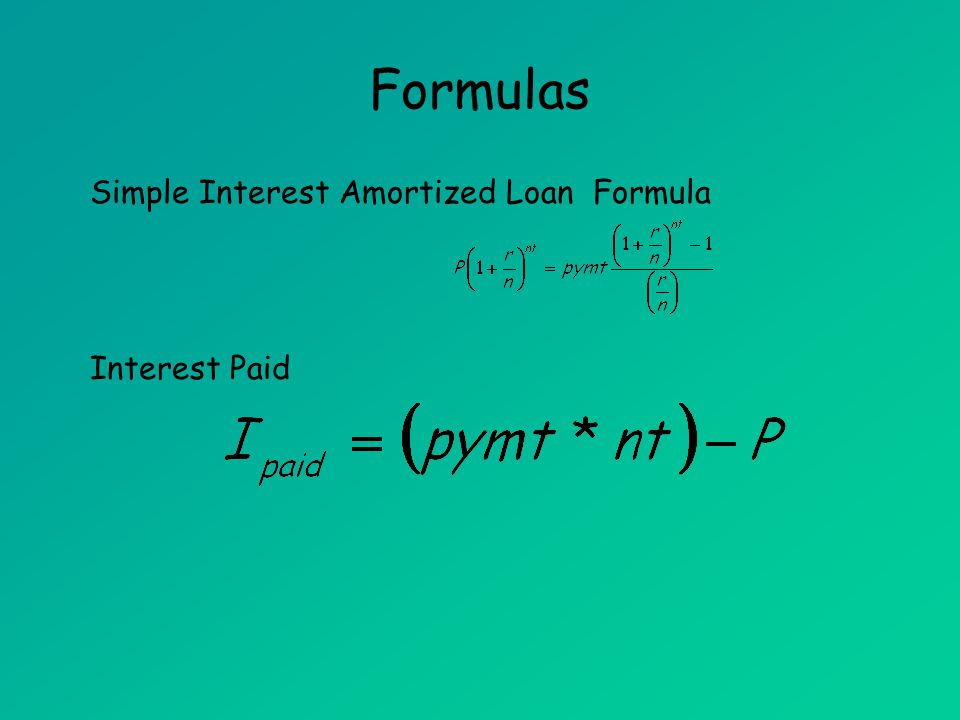 Amortized Loans (MAT 142) Amortized Loans - ppt download