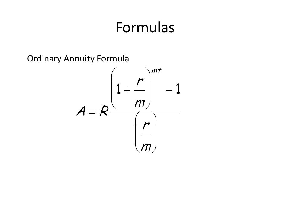 amortization formula - Intoanysearch - annuity equation