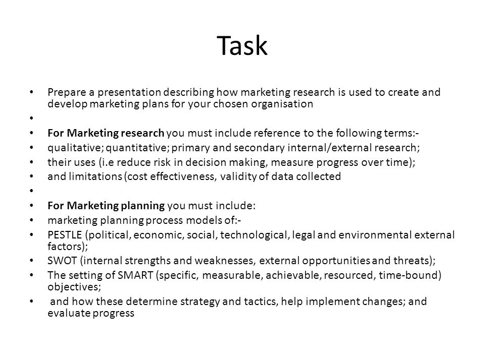 Market Research and Planning - ppt video online download